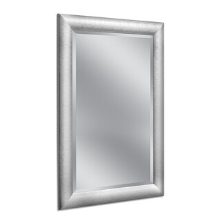 Headwest 30 x 42 Hammered Chrome Wall Mirror - 30 x 42