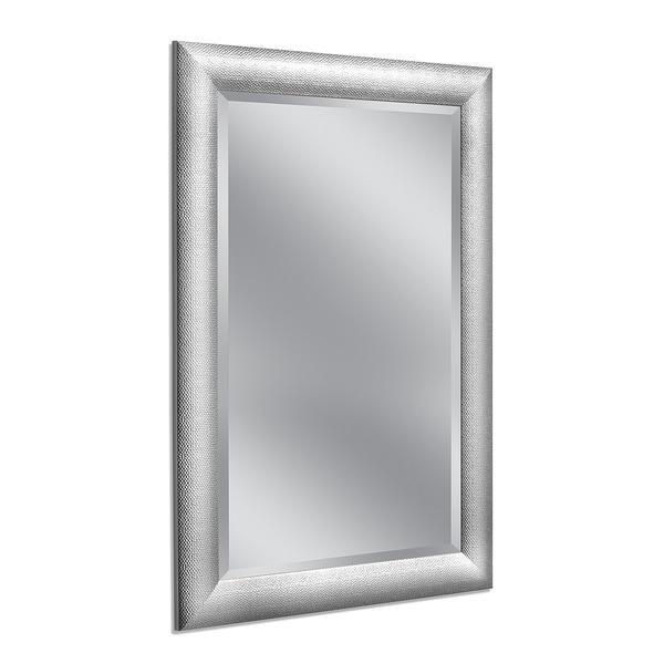 Headwest 30 x 42 Hammered Chrome Wall Mirror - 30 x 42