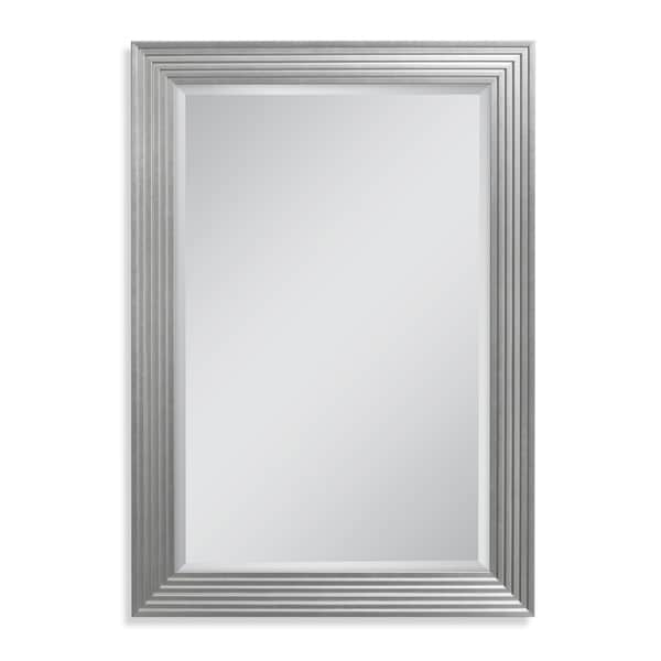 Headwest 29.5 x 41.5 Silver Fluted Gallery Wall Mirror - 29.5 x 41.5
