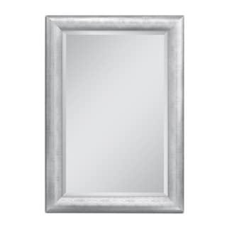 Headwest 36 x 46 Chrome Pave Weave Wall Mirror - 36 x 46