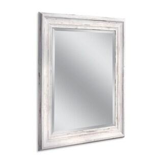 Headwest 29 x 35 Frarmhouse White Wall Mirror - 29 x 35