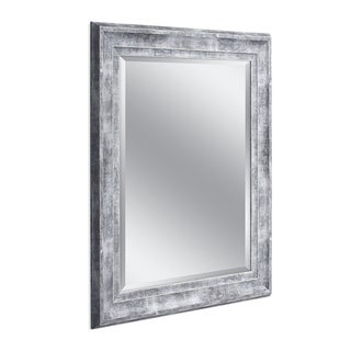 Headwest 29 x 35 Frarmhouse Gray Wall Mirror - 29 x 35
