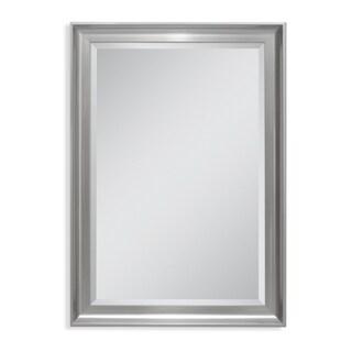 Headwest 29 x 41 Malibu Transitional Titanium Wall Mirror - 29 x 41