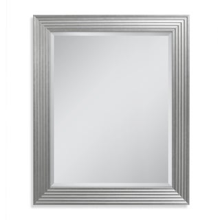 Headwest 27.5 x 33.5 Silver Fluted Gallery Wall Mirror - 27.5 x 33.5