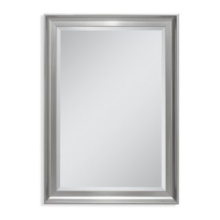 Headwest 35 x 45 Malibu Transitional Titanium Wall Mirror - 35 x 45