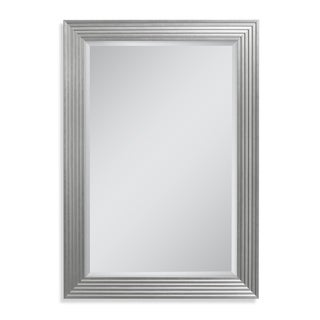 Headwest 35.5 x 45.5 Silver Fluted Gallery Wall Mirror - 35.5 x 45.5