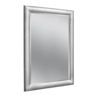 Headwest 36 x 46 Hammered Chrome Wall Mirror - 36 x 46