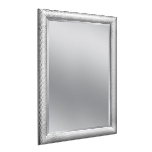 Headwest 36 x 46 Hammered Chrome Wall Mirror - 36 x 46