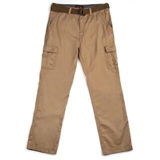 Wear First Pin Faille Belted Cargo Pant- Ecru