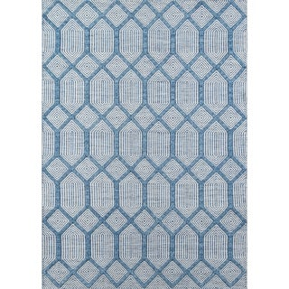 Erin Gates by Momeni Langdon Cambridge Hand Woven Wool Blue Area Rug