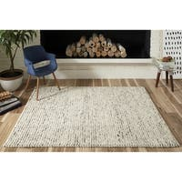 Momeni Andes  Hand Woven Wool and Viscose Ivory Area Rug