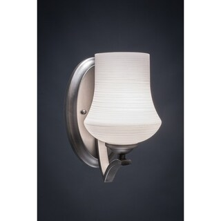 Zilo 1 Light Wall Sconce Shown In Graphite Finish. Glass Shade
