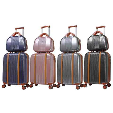 World Traveler 2-Piece Classique Hardside Carry On Spinner Luggage Set