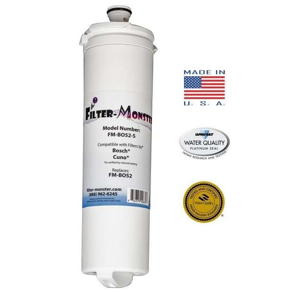 Replacement Compatible with Bosch 640565 Refrigerator Filter - White