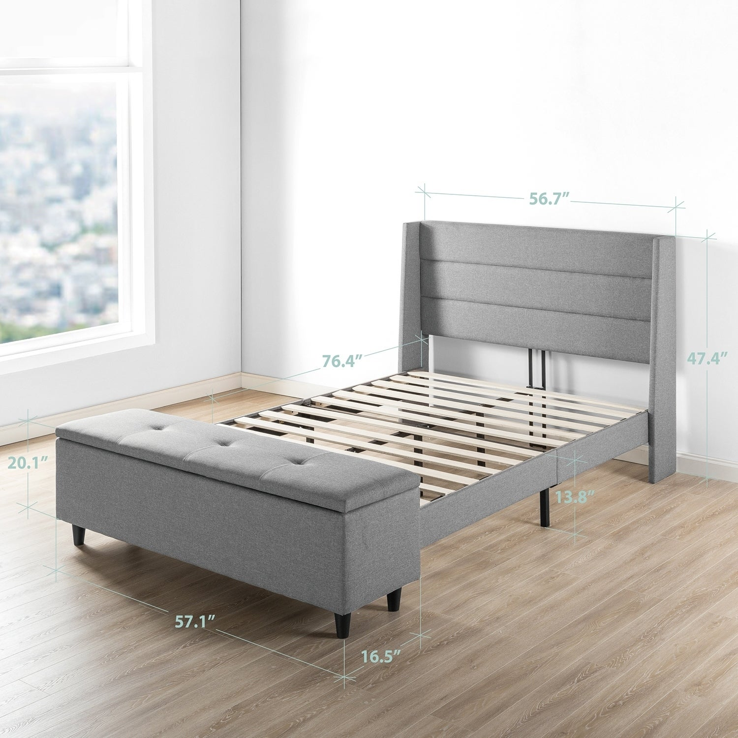 Shop Black Friday Deals On Full Size Modern Upholstered Platform Bed With Headboard And Storage Ottoman Crown Comfort On Sale Overstock 25859039