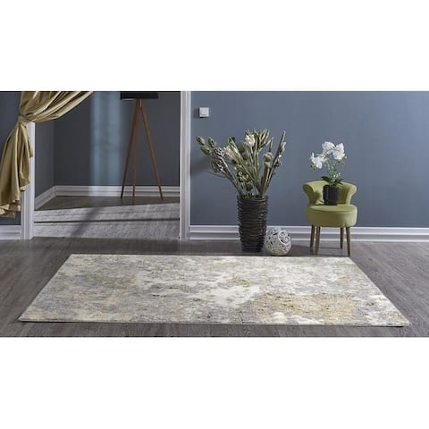 Persian Rugs 6490 Gray Abstract 8 x 10 Area Rug - 7'8 x 10'6