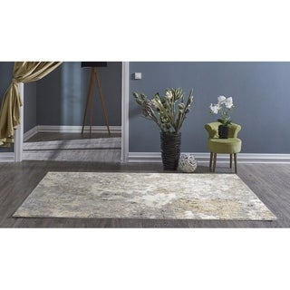 Persian-Rugs 6490 Gray Abstract 5 x 7 Area Rug Carpet - 5'2 x 7'2