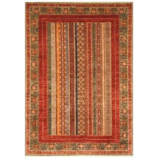 Handmade Super Kazak Wool Rug (Afghanistan) - 5'7 x 8'