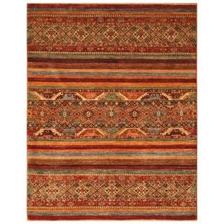 Handmade Super Kazak Wool Rug (Afghanistan) - 5' x 6'6
