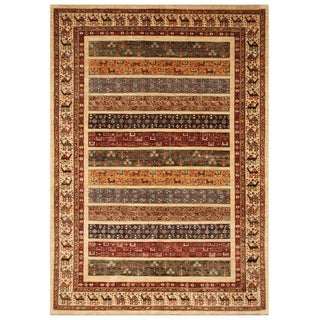 Handmade Super Kazak Wool Rug (Afghanistan) - 5'6 x 7'10