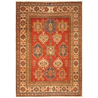Handmade Super Kazak Wool Rug (Afghanistan) - 4'9 x 6'10