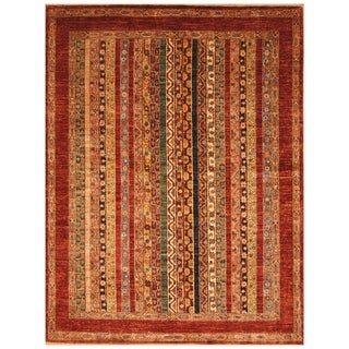 Handmade Super Kazak Wool Rug (Afghanistan) - 5' x 6'5