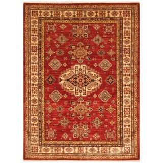 Handmade Super Kazak Wool Rug (Afghanistan) - 5' x 6'7