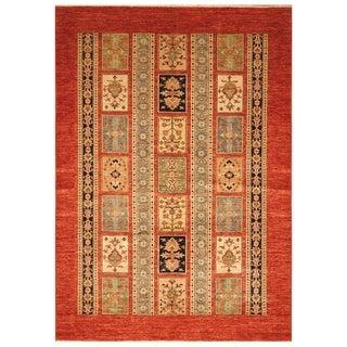 Handmade Super Kazak Wool Rug (Afghanistan) - 5'7 x 7'8