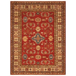 Handmade Super Kazak Wool Rug (Afghanistan) - 5'1 x 6'7
