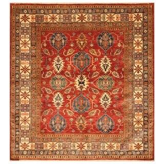 Handmade Super Kazak Wool Rug (Afghanistan) - 5'9 x 6'1