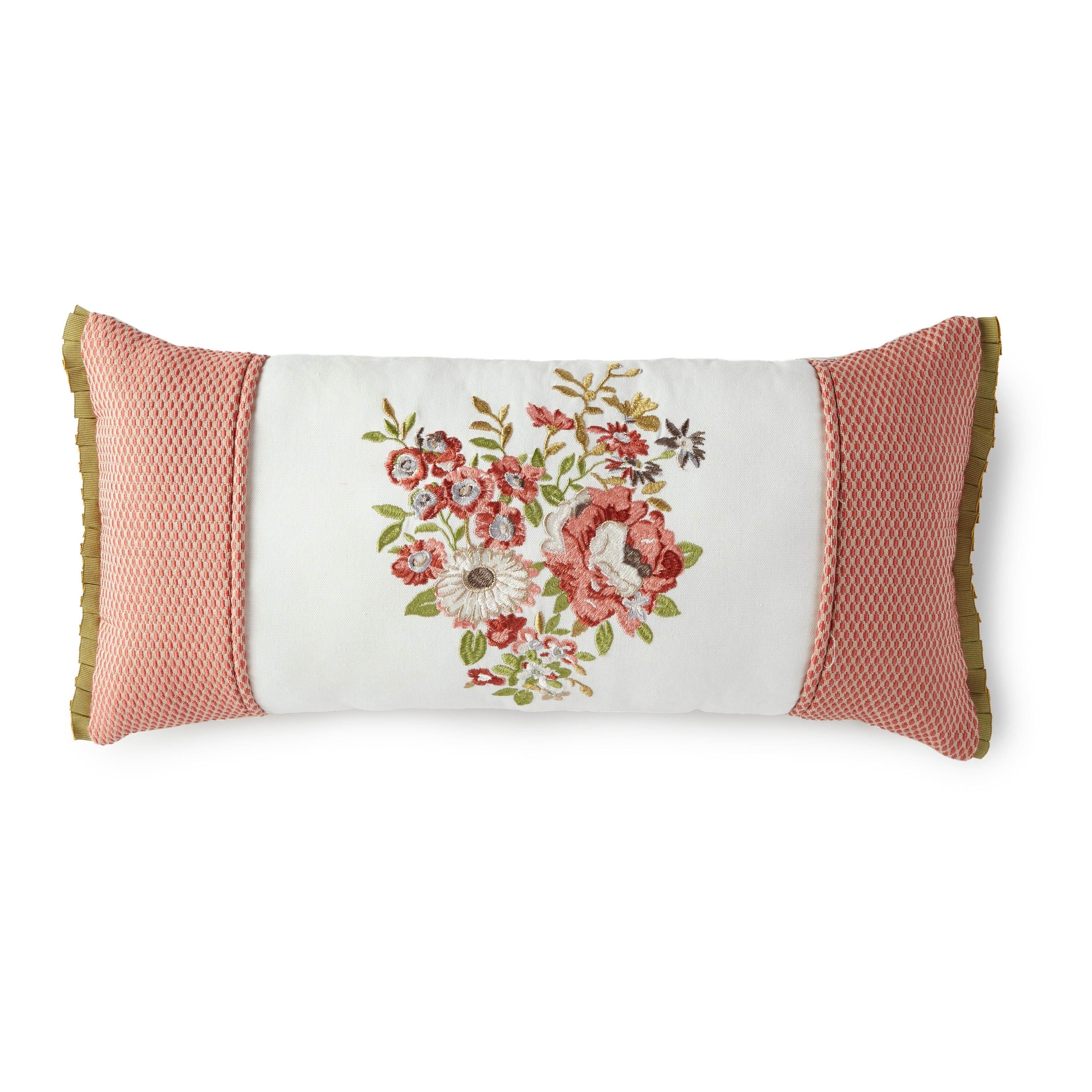Lorraine Floral Embroidered Throw Pillow Overstock 25859433
