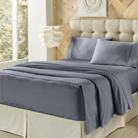 Five Queens Court Royal Fit 500 Thread Count 4 Piece Bed Sheet Set