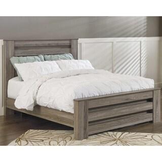 Ashley Furniture Signature Design - Zelen Queen Panel Rails - Warm Gray