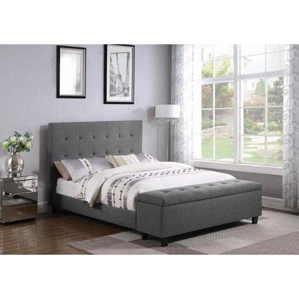 5552ae3b0f50 Shop Irelia Light Grey Fabric Upholstered Storage Bed - Free ...