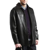 The Ultimate Black Lambskin Leather Car Coat