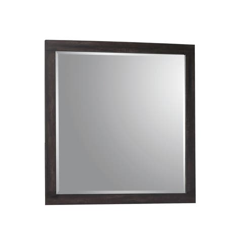 Carbon Loft Corsaut Weathered Oak and Rustic Coffee Dresser Mirror - Brown