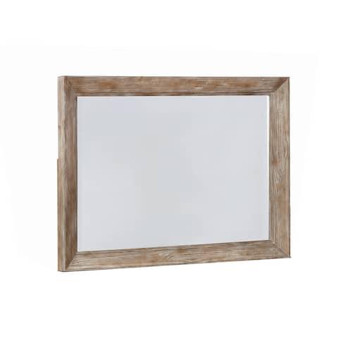 Carbon Loft Orville Rustic Barn Dresser Mirror - Grey