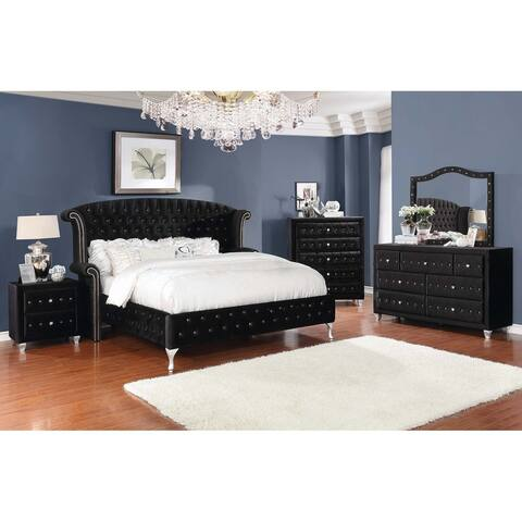 Silver Orchid Nielson Black 5-piece Bedroom Set