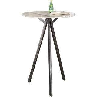 Natural Stone and Antique Gunmetal Round Bar Table