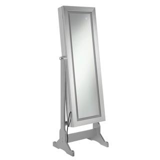 """Silver Orchid Dora Silver Jewelry Cheval Mirror - 21.50"""" x 15"""" x 58.25"""""""