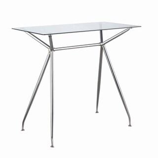 Clear and Chrome Rectangular Bar Table