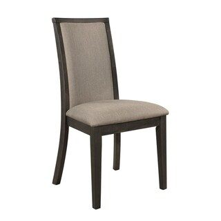 Clarksville Rubbed Charcoal Upholstered Dining Chairs (Set of 2)
