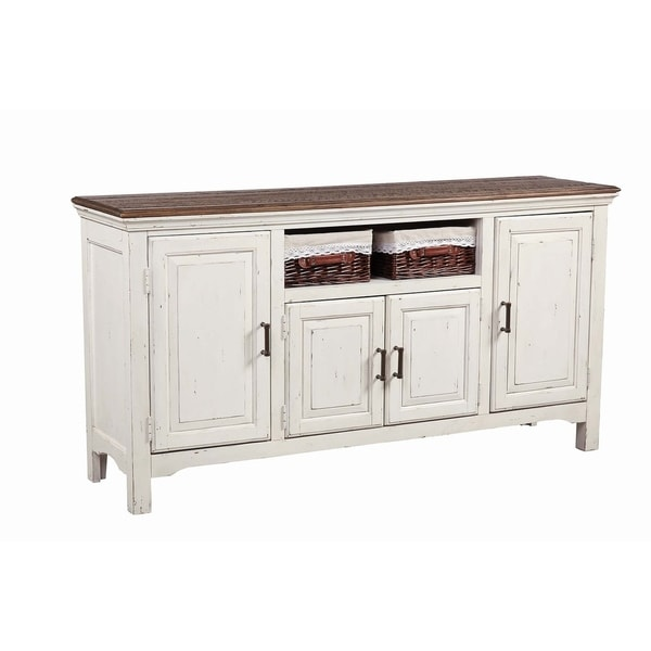 """The Gray Barn Hill Dale 4-door Server - 70"""" x 18.25"""" x 36.25"""" - 70"""" x 18.25"""" x 36.25"""". Opens flyout."""