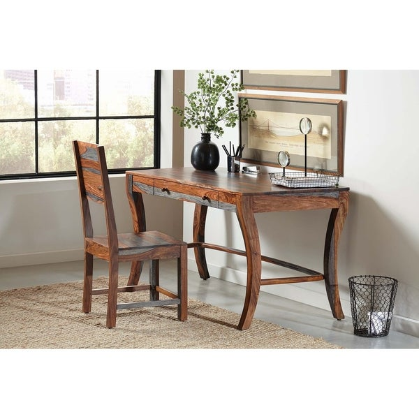 Carbon Loft Wallis Grey Sheesham Desk Chair