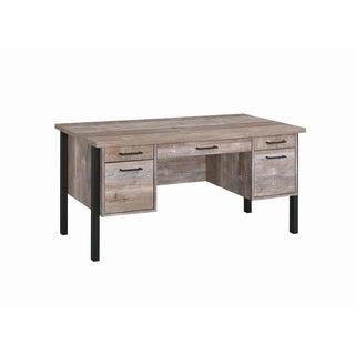 Samson Weathered Oak 4-drawer Office Desk
