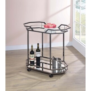 Mirror 2-tier Serving Cart