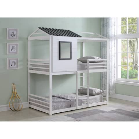 Belton White Twin over Twin Bunk Bed