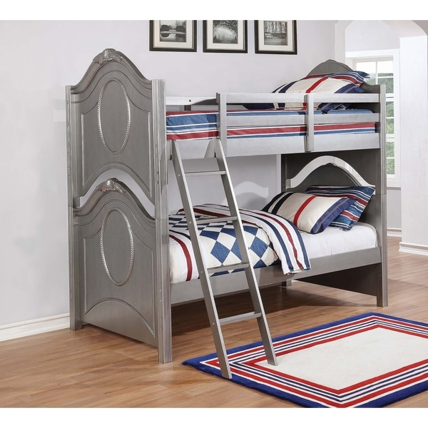 472e7754c8e9 Shop Valentine Metallic Pewter Bunk Bed - On Sale - Free Shipping Today -  Overstock - 25859982