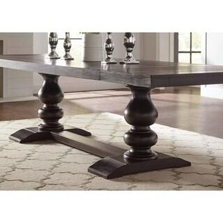 Phelps Antique Noir Brown Rectangular Dining Table