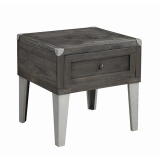 "Carbon Loft Soule Grey 1-drawer Rectangular End Table - 24"" x 22"" x 24"""